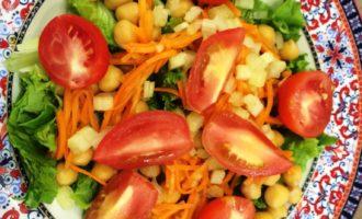 салат с нутом пошаговый