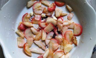творожная запеканка с яблоками и манкой пошаговый