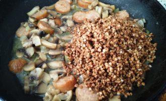 гречка по-купечески с грибами пошагово