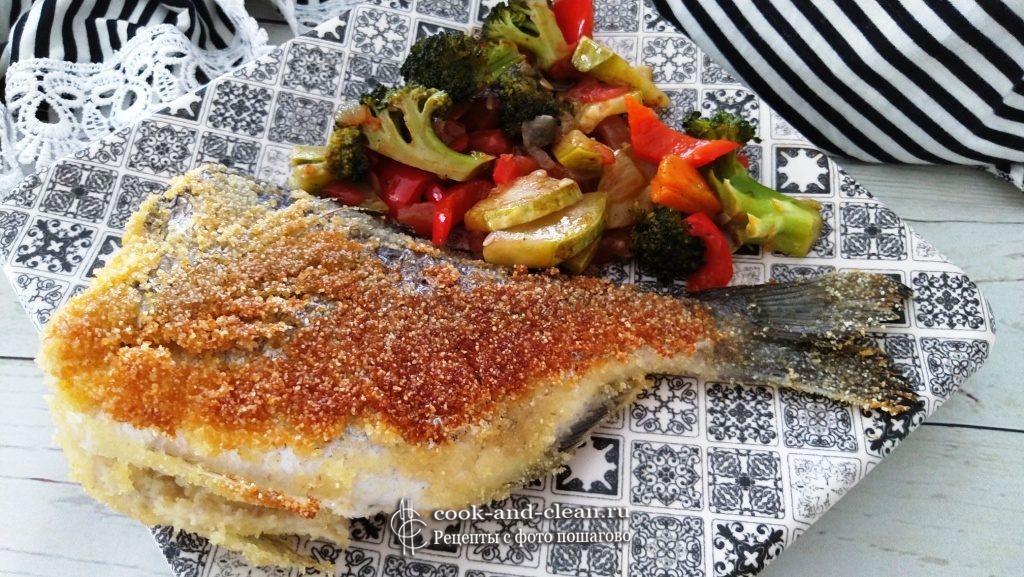 как приготовить жареная рыба в манке