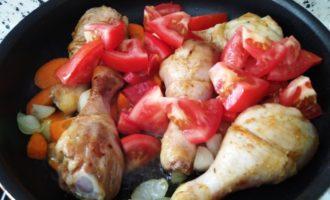 курица с картошкой на сковороде рецепт с фото