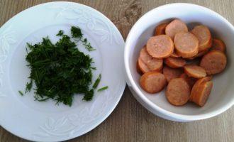 омлет с колбасой и зеленью рецепт