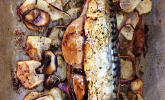 скумбрия с картошкой в духовке пошаговый