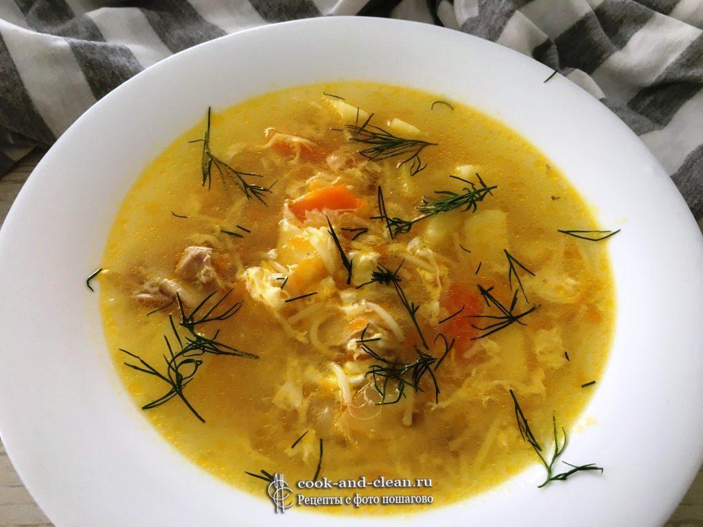 суп с вермишелью и яйцом