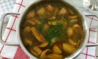 грибной суп с вермишелью
