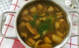 как приготовить грибной суп с вермишелью