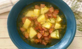 как приготовить картофельный суп с колбасой