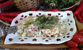 как приготовить крабовый салат классический