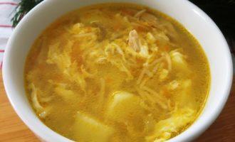 как приготовить куриный суп с вермишелью и яйцом