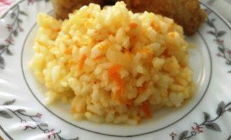 как приготовить рис с морковью и луком