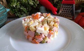 как приготовить салат оливье классический с колбасой