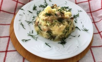 картофельное пюре с грибами пошаговый рецепт