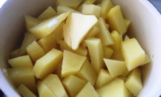 картофельное пюре с зеленым луком с фото
