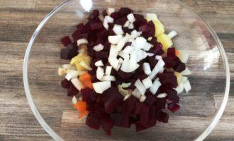 классический винегрет с фасолью пошагово