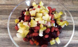 классический винегрет с фасолью рецепт с фото