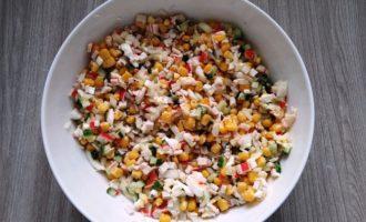 крабовый салат классический пошаговый
