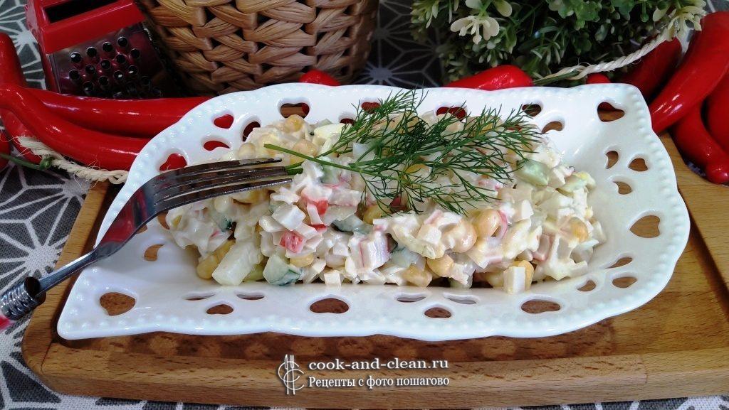 крабовый салат классический