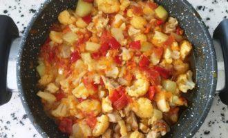 курица с кабачками и овощами пошаговый