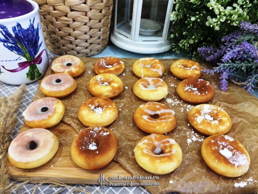 Пончики в вафельнице