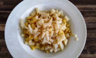 салат оливье классический с колбасой пошагово