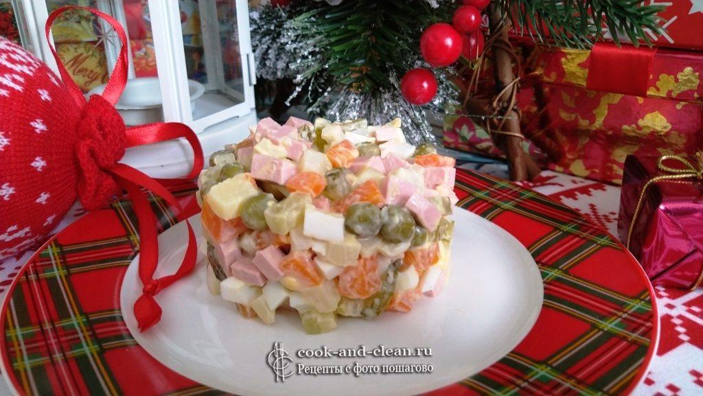 салат оливье новогодний