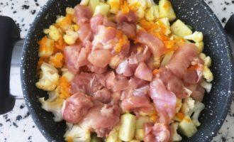 цветная капуста с куриным филе с фото