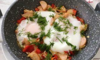 яичница с болгарским перцем