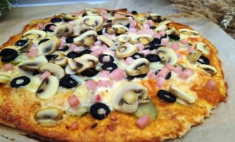 как приготовить пицца грибная