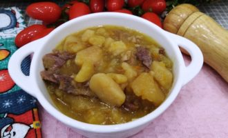 как приготовить тушеная картошка с мясом в скороварке