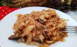 капуста тушёная с грибами