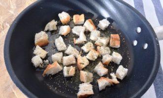 классический салат Цезарь пошагово