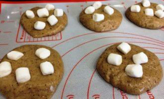 печенье с маршмеллоу пошагово