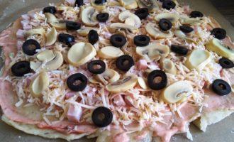 пицца грибная пошагово с фото