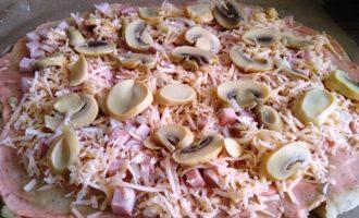 пицца грибная пошагово