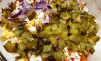 рецепт оливье с яблоками и курицей