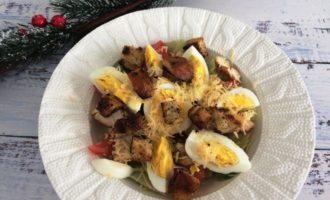 салат Цезарь с курицей классический пошагово