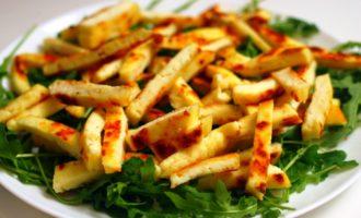 салат с грушей и сыром пошагово с фото