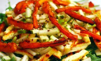 салат с грушей и сыром пошаговый с фото
