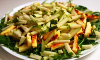 салат с грушей и сыром пошаговый