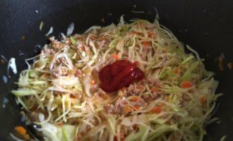 тушеная капуста с рисом на сковороде пошаговый рецепт