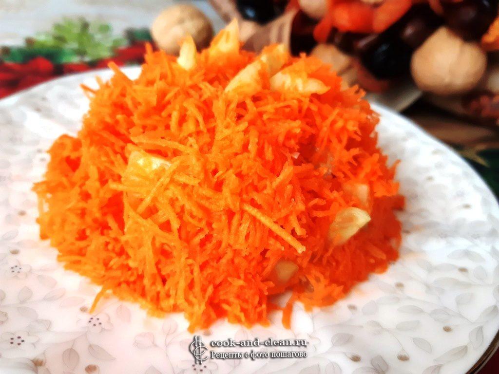 Салат со свежим огурцом и морковью