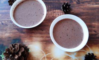 Шоколадный пудинг из ряженки