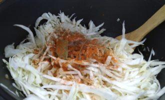 вкусная тушеная капуста с грибами пошагово с фото