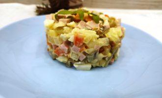 как приготовить классический зимний салат Оливье