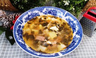 как приготовить суп из замороженного щавеля