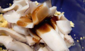 кальмаровый салат с луком