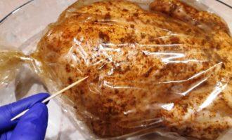 курица запеченная с начинкой рецепт