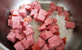 макароны с колбасой рецепт с фото