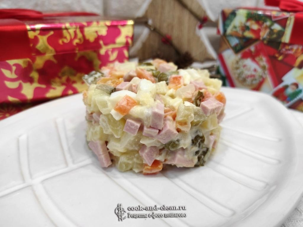 салат Оливье новогодний рецепт