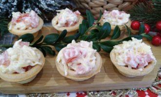 тарталетки с чесноком и сыром рецепт с фото